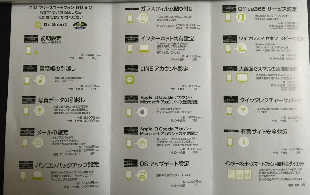 PCデポの格安SIMサービス
