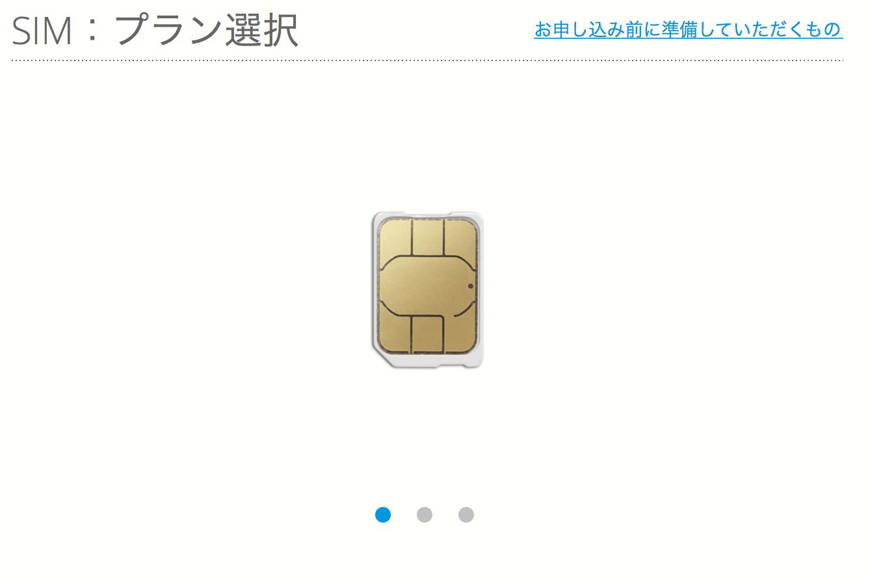 BIGLOBE SIMの申し込み手順